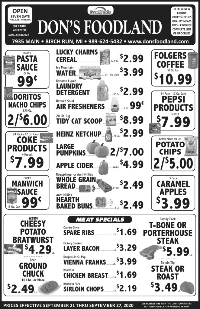 Don's Foodland Grocery store in Birch Run Michigan Sales and Specials